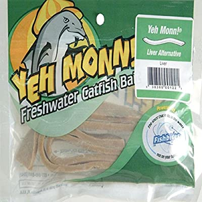 Fishbites 0122 Yeh Monn Freshwater Catfish Bait, Liver and Brown