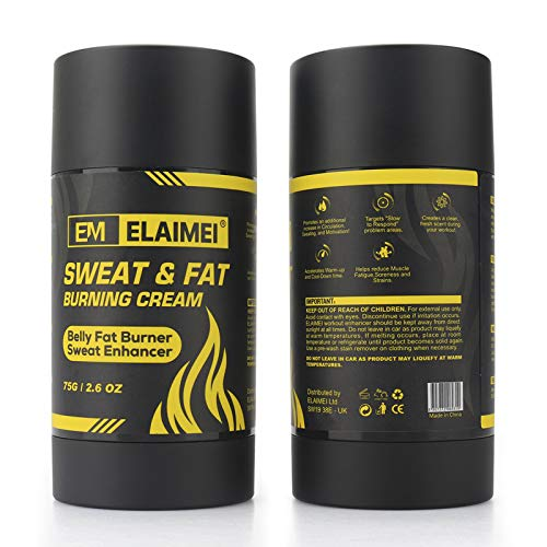 Hot Gel Thermoactive Cream, Sweat Workout Enhancer Gel, Weight Loss and Fat Burning Cream for Belly, Women and Men, , Slimming Cream for Tummy, Anti Cellulite Cream, Deep Tissue Massage & Muscle Relaxer (Sweat Enhancer Solid-Black)
