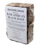 Our Earth's Secrets Natural Raw African Black Soap, 2 lbs.