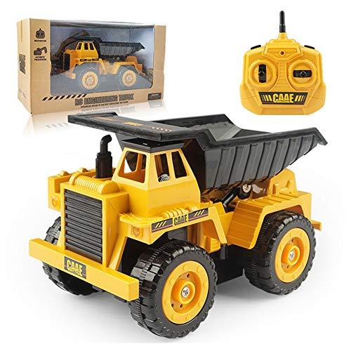 YMUUIHC Juguete De Camión Volquete De Control Remoto, Camión De Construcción Vehículo De Juguete De Construcción Construcción Completamente Funcional Camiones Juguetes para Niños