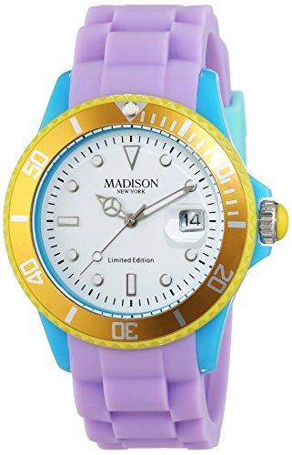 Madison Reloj Análogo clásico para Unisex de Cuarzo con Correa en Caucho U4484