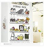 Pegatina pared baldas de cocina pared/cristal despensas cafeterias terrazas escaparates caravanas 81...