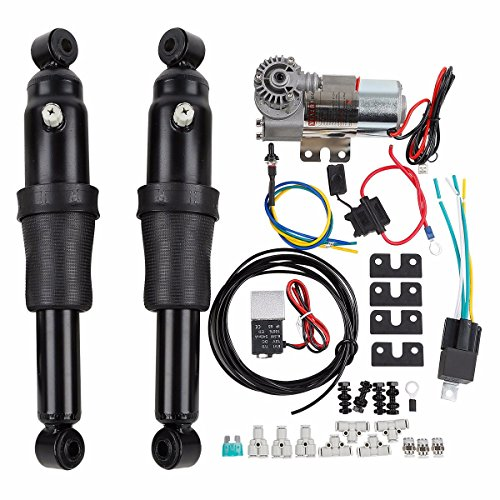 Motorcycle Black Rear Air Ride Suspension Fit For Harley Touring Road King Street Glide 1994-2018...