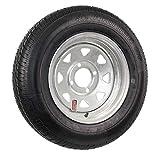 2-Pack Radial Trailer Tire On Rim ST175/80R13 LRC 4 Lug Galvanized Spoke Wheel