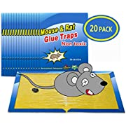 """Wemk Mouse Trap, 20 Pack Mouse Glue Traps Rat Trap Mouse Glue Boards Mouse Super Sticky Board, Non-Toxic, Large Size 8""""x12"""""""