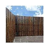 PLMOKN Pannello di recinzione di bambù, schermo della privacy del giardino, vite di arrampicata della pianta, tagliente in bambù in stile giapponese, connessione intestata del filo di ferro zincato pe