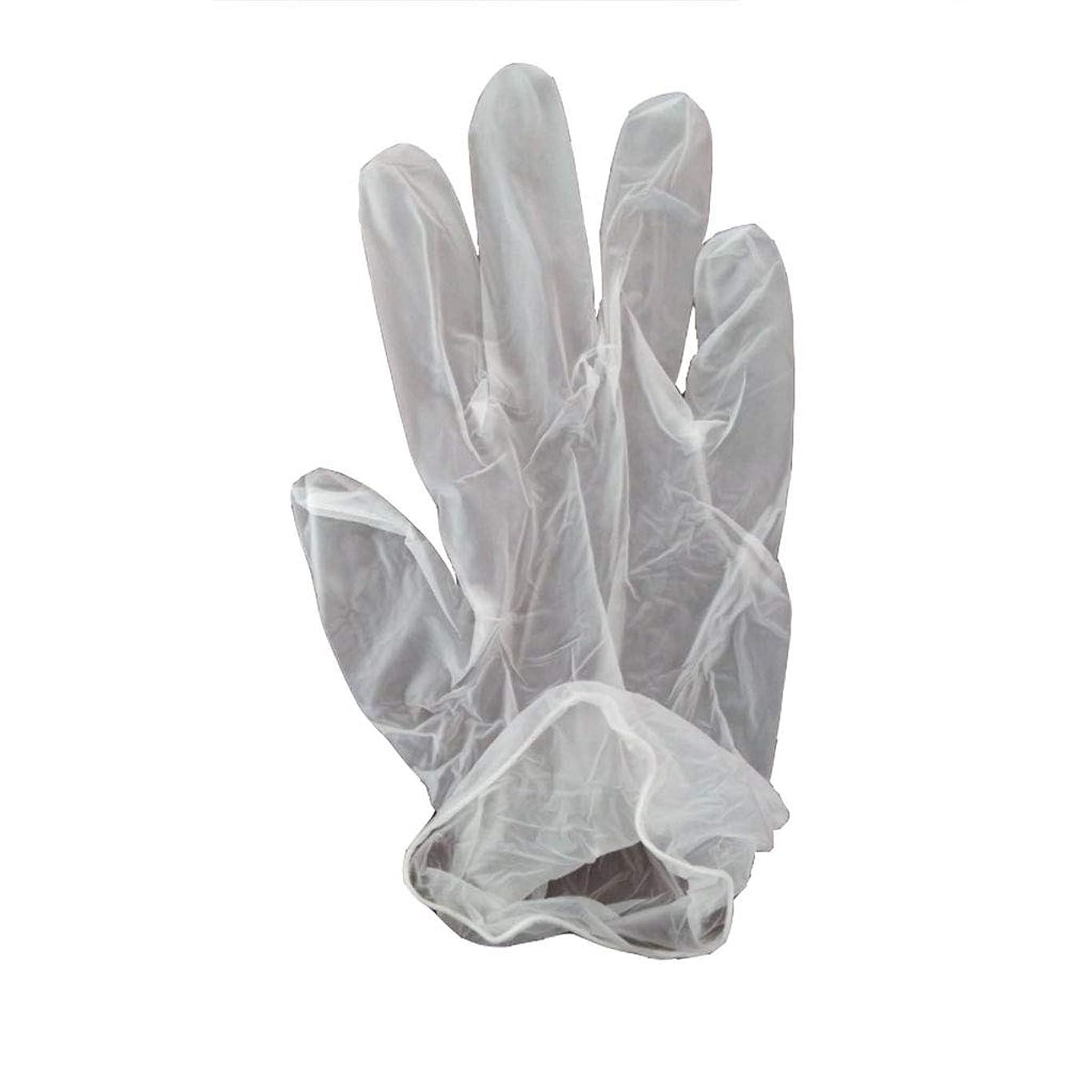 道アブストラクト揺れる100箱の使い捨て手袋、PVC手袋、透明で濃厚なヘアケア手袋。 (サイズ さいず : XL, UnitCount : 200 only)