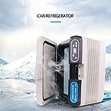 LXD Energiesparende 12L Dual-Core-Kühlung Tragbarer Kühlschrank Kleine Gefriertruhe Auto und Heim Dual-Use-Kühlschrank Mini-Kühlschrank 12V / 24V / 220V Fahrzeug Auto Kühlschrank...