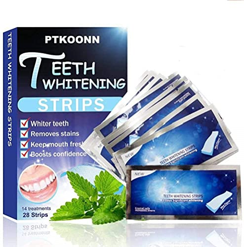 Blanqueador Dental, 28 Tiras Blanqueadoras Dientes,Teeth Whitening Strips,Reduce Sensibilidad Dental,Eliminación Profesional de manchas de dientes