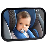 Safe Baby Car Mirror for Rear View Facing Back Seat for Infant Child,Fully Assembled and Adjustable,Backseat Shatterproof Mirror with Perfect Reflection