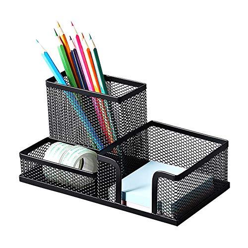 Kombi-Stifteköcher aus Metall, Schreibtisch-Organizer, Schreibtisch-Organizer mit 3 Fächern, kann im Büro, in der Schule und zu Hause verwendet werden.