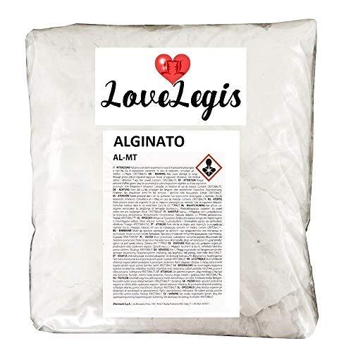 KIRALOVE - Alginato para moldes, calcos, cuerpo, manos, pies, brazos, no tóxico, 1 kg