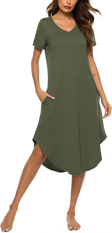 LonoLaka Womens Short Ultra-Cheap Deals Sleeve V Pajama Loungewear Neck Brand Cheap Sale Venue Oversized