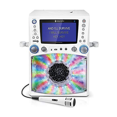 Singing Machine STVG785BTW Bluetooth Karaoke Machine...