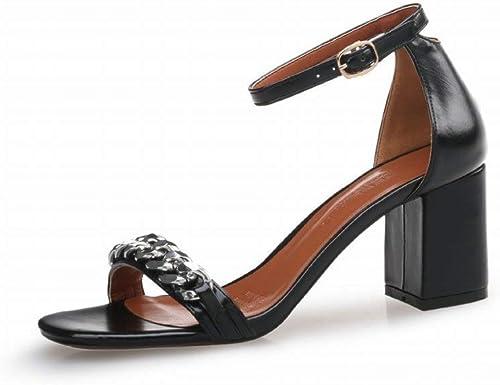 Oudan zapatos de mujer con zapatos Tacones Altos con zapatos en Tacones Altos (Color   negro, tamaño   39)