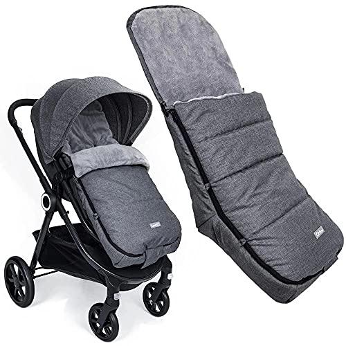 Orzbow Saco Silla Paseo Universal, Invierno saco capazo bebe -Impermeable Sacos Carrito Bebe (gris oscuro)