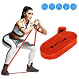 Bandas Elasticas Musculacion, 2.08m Gomas elasticas para Mujeres y Hombres, Pilates, Yoga, Rehabilitación, Estiramiento, crossfit, Fitness/Red 22mm