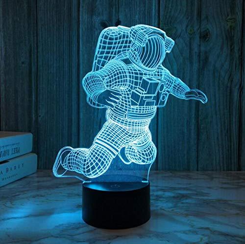 ARMAC 3D astronauta luz LED decoración de arte luz niños dormitorio noche luz control táctil 7 cambios de color
