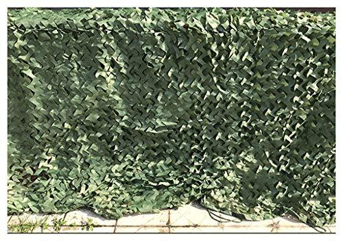 Filet de camouflage (auvents, filet d'ombrage, filet solaire, filet de protection solaire, voiles de bâche de tente), adapté au camping extérieur avec clôture, couleur verte, plusieurs tailles