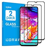 apiker [2-Pack Cristal Templado Completa Compatible con Samsung Galaxy A70, Protector Pantalla Completa para Samsung Galaxy A70, Vidrio Templado Completa con [Alta Definición] [Anti- Arañazo]