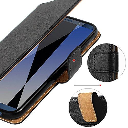 HOOMIL Handyhülle für Huawei Mate 10 Pro Hülle, Premium PU Leder Flip Schutzhülle für Huawei Mate 10 Pro Tasche, Schwarz - 5