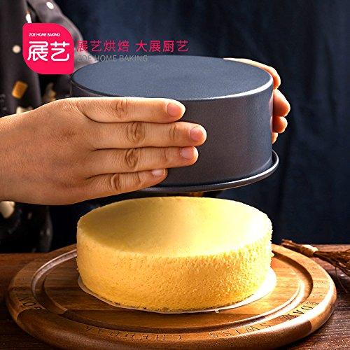 Backenwerkzeuge Non-stick Runde solide Kuchenform Käse Käse Backblech Backofen backen, A, schwarz