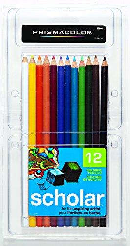 Prismacolor 92804 Scholar Colored Pencils, 12-Count