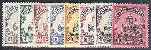 Goldhahn Deutsch-Ostafrika Nr. 22-29 - Briefmarken für Sammler