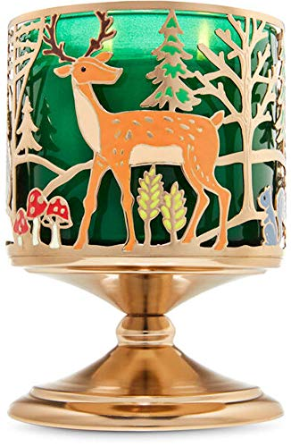 White Barn Bath and Body Works 3 Wick Candle Sleeve Pedestal Holder Forest Friends Candle Sold Separate