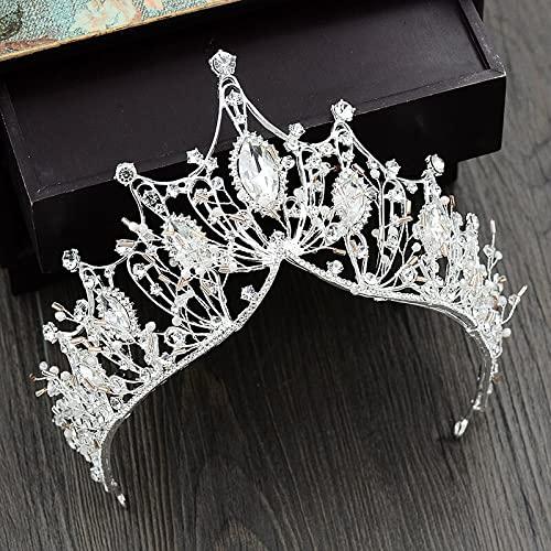 Pinzas para el cabello Corona de boda Joyas para el cabello Tocado de novia Mujer Moda Diamantes de imitación Tiaras de cristal Coronas de fiesta de novia Accesorios para el cabello de boda