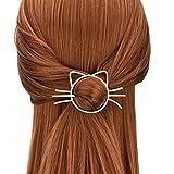 LEORX Gold Hair Stick Lovely Cat Shaped Hair Slide Stylish Hair...