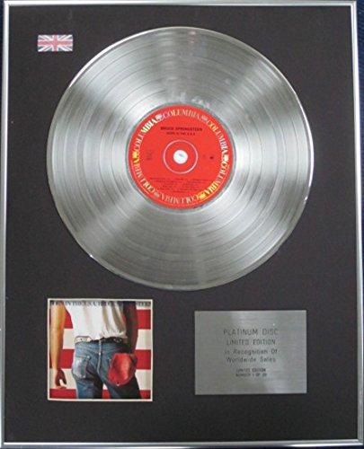 Century Music Awards BRUCE Springsteen - Disco de disco de platino de edición limitada - Nacido en los Estados Unidos