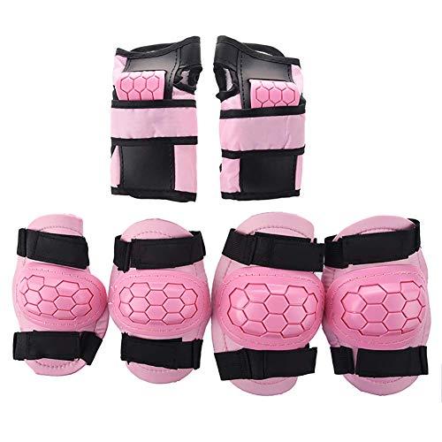 ShiSyan Soporte de Manga de Rodilla 6 en 1 niños Rodilla/Codo/Almohadillas Protectoras de muñeca, Equipo de protección para Patinaje patín Ciclismo