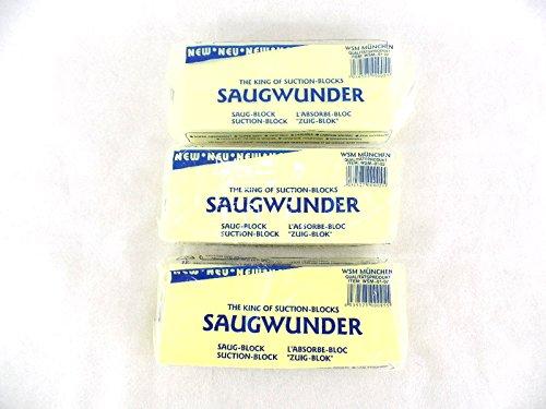 3 Stück Saugwunder Schwamm Gelb oder Blau extra superstark Saugblock