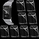 8 Pieces Screen Protector Soft TPU Case Compatible with Fitbit Full Cover, Fitbit Charge 3/ Charge 4 Watch Accessories, Clear