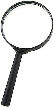 Noir poignée en plastique 75mm Diamètre Objectif portable 6x Loupe en verre