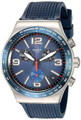 Swatch Reloj Cronógrafo para Hombre de Cuarzo con Correa en Caucho YVS454