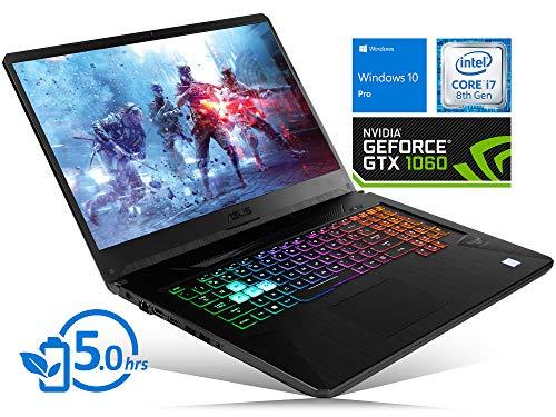 "ASUS TUF FX705GM Laptop, 17.3"" FHD Display, Intel Core i7-8750H Upto 4.1GHz, 64GB RAM, 2TB NVMe SSD + 1TB HDD, NVIDIA GeForce GTX 1060, HDMI, Wi-Fi, Bluetooth, Windows 10 Pro"