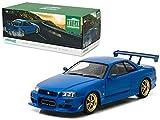 1999 Nissan Skyline GT-R (R34) Bayside Blue 1/18 Model Car by Greenlight
