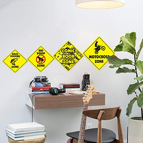 "Critter Crossing Sign Zone Xing | Indoor/Outdoor | 12"" Tall Animals Furry Rodent Small Slow Photo #5"