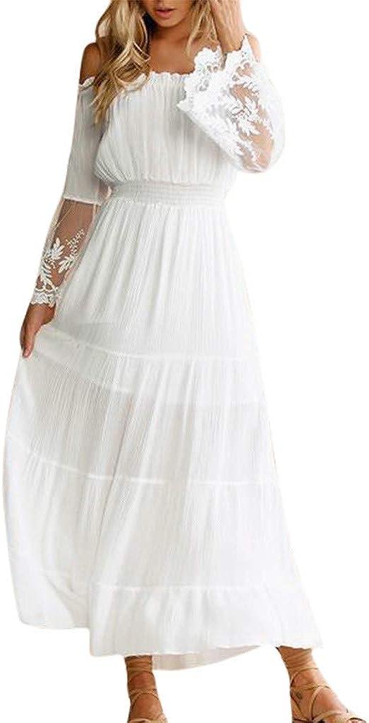 Modedress Ranking TOP17 Mesa Mall Summer Dress for Women White M Long Bohemian Strapless