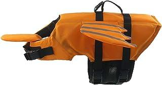 Vohoney Chaleco salvavidas para perros chaleco de natación para mascotas salvavidas chamarra salvavidas salvavidas para perro salvavidas traje de baño con flotabilidad y mango de rescate