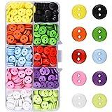 Kissral Bottoni Colorati Set di 750 Bottoni Decorativi Rotondi Artigianali per Bambini Corrispondenti Bottoni da Cucire per Attività Ricreative Creative Maglieria Conteggio Multicolore