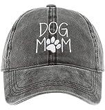 MIRMARU Baseball Dad Hat Vintage Washed Cotton Low Profile Embroidered Adjustable Baseball Caps (Dog Mom-Black)