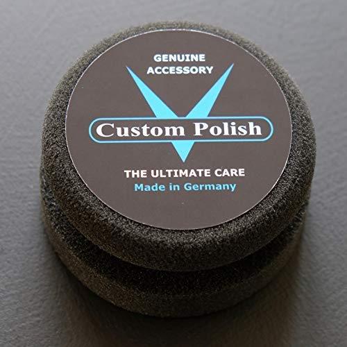 Custom Polish Tampon de polissage professionnel avec barre de préhension pour l'application et le traitement professionnels des produits de nettoyage, plastique et métal.
