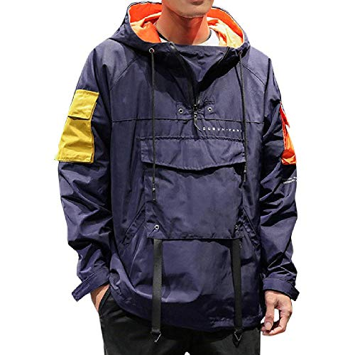 Lente Mannen Windbreaker Jas Merk Mode Hip Hop Rits Casual Jas Mens Outwear Anorak Koreaanse Stijl Pocket Sport Jas
