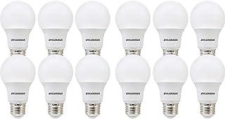 SYLVANIA General Lighting 74470 Sylvania, 60W Equivalent, LED Bulb, A19 Lamp, 12 Pack, Day Light, Energy Saving & Longer Life, Value Line, Medium Base, Efficient 8.5W, 5000K, Daylight, 12 Count