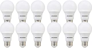 SYLVANIA General Lighting 74470 Sylvania, 60W Equivalent, LED Bulb, A19 Lamp, 12 Pack,..