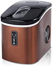 Machine à glaçons, Comptoir à glace en acier inoxydable, glaçons prêtes à 6 minutes, 28 lb de glace pour 35 heures, foncti...
