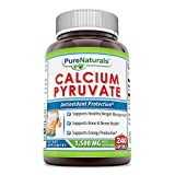 Pure Naturals Calcium Pyruvate 1500 Mg, 240 Capsule Supports Healthy Weight Management, Supports Bone & Nerve Health, Supports Energy Production